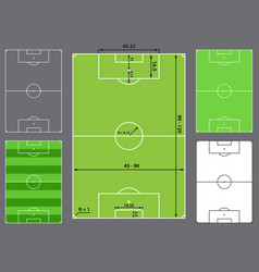 football field or soccer field vector image