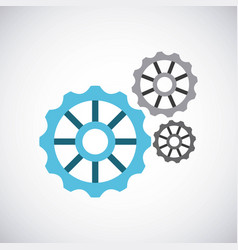 Gears settings machine icon vector