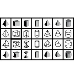 Geometrical figures vector