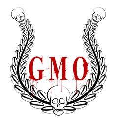 GMO emblem vector
