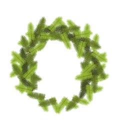 Green pine wreath vector
