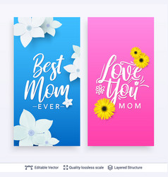 greeting cards for mother day template vector image
