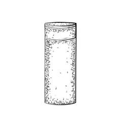 Hand drawn bottle or tube vector