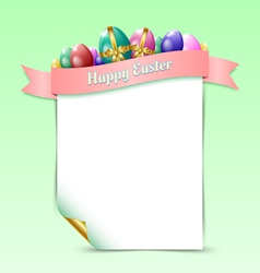 Happy Easter document template vector image