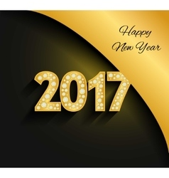 Happy New Year 2017 Gold numbers Diamonds vector