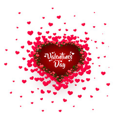 happy valentines day greeting postcard vector image