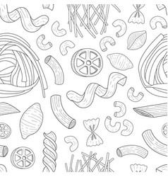 italian pasta seamless pattern traditional vector image