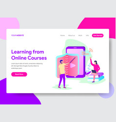 Learn from online course concept vector
