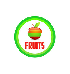 logo emblem of fruits vector image