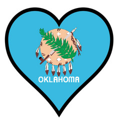 Love oklahoma vector