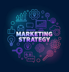 marketing strategy colorful in vector image