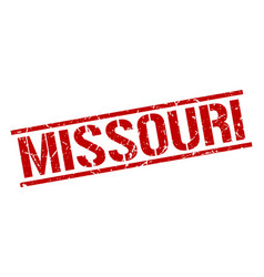 Missouri red square stamp vector