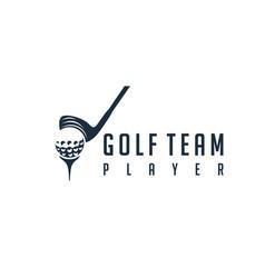 modern stick golf with ball for golf team logo vector image