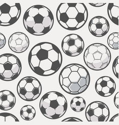 monochrome soccer balls background football or vector image