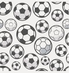 monochrome soccer balls background football vector image