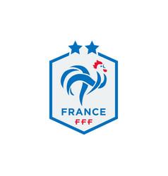 official logo france football federation vector image