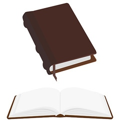 Opened and closed book vector image