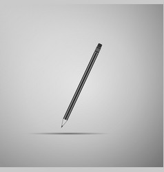 pencil with eraser icon education sign vector image