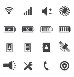phone and sign of power icons set vector image