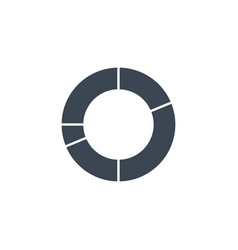 Pie chart related glyph icon vector