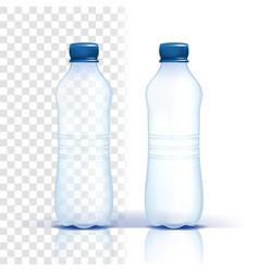 plastic bottle empty label bluer classic vector image