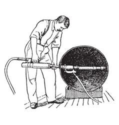 Pneumatic hammer vintage vector