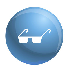 Polycarbonate glasses icon simple style vector