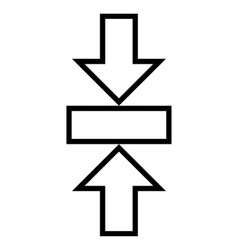 Pressure Vertical Contour Icon vector