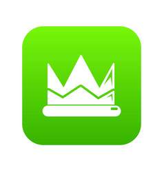 prince crown icon green vector image