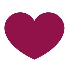 Purple heart icon vector