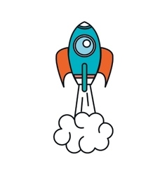 rocket start up isolated icon vector image