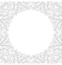Round ethnic pattern vector