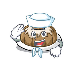 sailor bundt cake character cartoon vector image