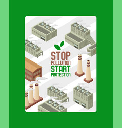 save ecology protect environment poster vector image