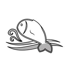 sea fish icon vector image