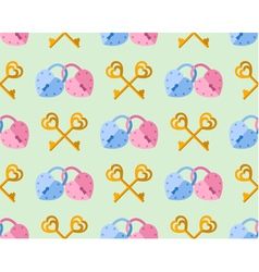 seamless pattern from padlock couple key couple vector image