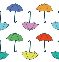Seamless Pattern with Colorful Umbrellas vector image