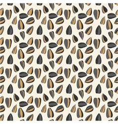 Seamless pattern with sunflower seeds vector image