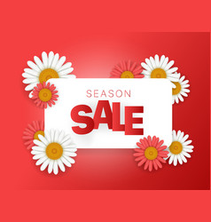 season sale offer season sale banner horizontal vector image