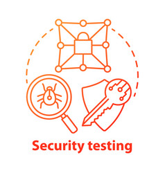 Security testing concept icon safety audit key vector