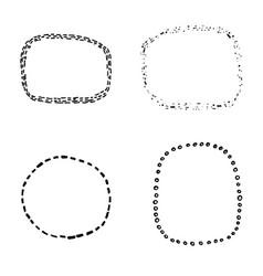 set four hand sketched decorative frame vector image