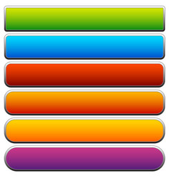 Set of colorful button banner backgrounds with vector