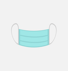 Simple surgical mask graphic vector