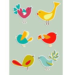 Social media birds set vector