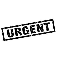 Square grunge black urgent stamp vector