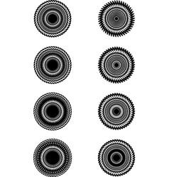 sunburst abstract seamless pattern background vector image