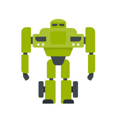 super robot transformer icon flat isolated vector image