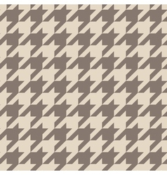 Tile brown houndstooth pattern vector image vector image