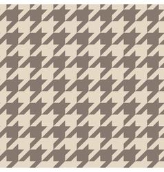 Tile brown houndstooth pattern vector