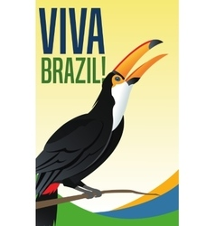 Tuncan cartoon of brazil design vector
